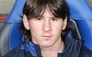 Lionel Messi zu Beginn seiner Karriere beim FC Barcelona