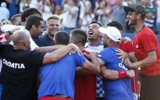 Kroatien feiert den Sieg im Halbfinale gegen die USA