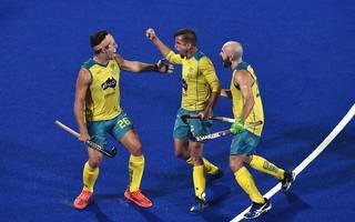Hockey Weltmeisterschaft Indien Australien Australien qualifiziert sich als erstes Team vorzeitig für das Viertelfinale