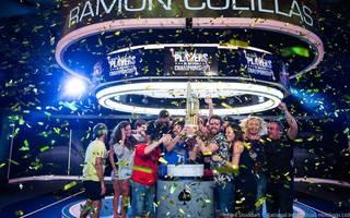 Ramon Conillas (4. v.r.) feierte mit Freunden den Sieg beim Megaturnier auf den Bahamas