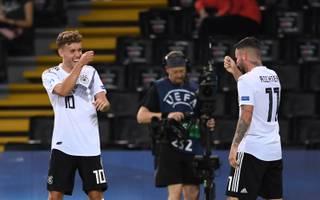 Luca Waldschmidt (l.) und Marco Richter haben gemeinsam bei der UEFA U21 EM 2019 schon sieben Tore in zwei Spielen erzielt
