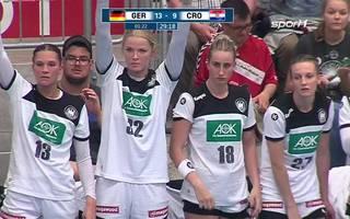 Highlights: Handball Frauen: WM-Qualifikation: Deutschland - Kroatien