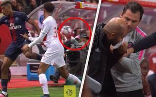Presnel Kimpembe von PSG schießt Kameramann k.o.!