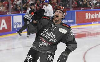 Fabio Pfohl machte für die Kölner Haie alles klar