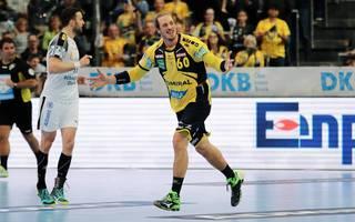 Kim Ekdahl du Rietz erzielte vier Tore für die Rhein-Neckar Löwen