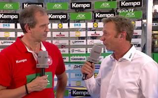 Henk Groener im Interview nach dem EM-Härtetest Deutschland-Russland