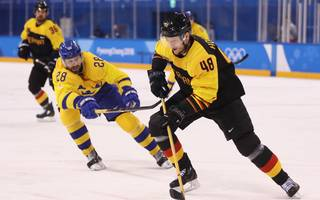 Ice Hockey - Winter Olympics Day 12 Frank Hordler bestritt insgesamt acht Weltmeisterschaften für den DEB. Sein Höhepunkt war die Silbermedaille bei Olympia 2018