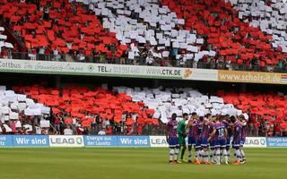 Einige Fans von Energie Cottbus sorgten für einen Skandal