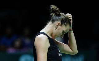Karolina Pliskova muss das Fed-Cup-Finale gegen die USA absagen