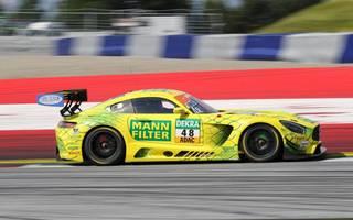 Fabian Vettel hatte mit dem HTP-Mercedes in der letzten Runde einen heftigen Unfall