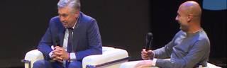 FC Bayern: Pep Guardiola und Carlo Ancelotti scherzen über FCB-Zeit