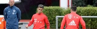 Philippe Coutinho bei seinem ersten Training mit dem FC Bayern