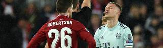 Joshua Kimmich muss im Rückspiel gegen Liverpool zuschauen