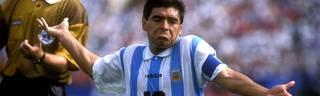 Diego Maradona bestritt gegen Nigeria 1994 sein letzten Länderspiel für Argentinien