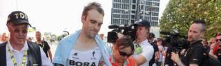 Maximilian Schachmann hat sich bei einem Sturz bei der Tour de France verletzt
