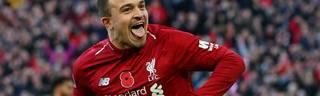 Xherdan Shaqiri traf am Wochenende gegen FC Fulham für den FC Liverpool