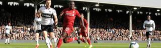 Sadio Mane bei der Ballannahme gegen den FC Fulham
