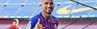 Daumen hoch für diesen Transfer: Kevin-Prince Boateng freut sich auf sein Abenteuer bei Barca