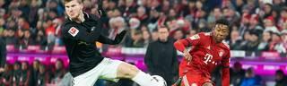 Timo Werner (l.) und David Alaba könnten bald gemeinsam für den FC Bayern auflaufen