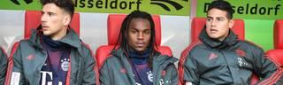 Für Leon Goretzka, Renato Sanches und James Rodríguez ist derzeit kein Platz in der Startelf des FC Bayern