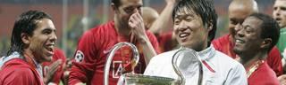 Premier League: Sir Alex Ferguson spricht über seinen größten Fehler, ManUnited-Profi Park Ji-Sung (mitte) kam im CL-Finale 2008 gegen Chelsea nicht zum Einsatz