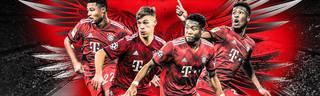 Serge Gnabry, Joshua Kimmich, David Alaba und Kingsley Coman (v.l.) stehen für Bayerns Zukunft auf den Flügeln