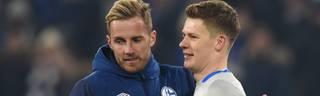 Ralf Fährmann (l.) muss im Tor des FC Schalke 04 Alexander Nübel weichen