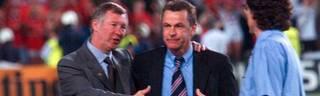 Sir Alex Ferguson (l.) und Ottmar Hitzfeld verbindet bis heute eine freundschaftliche Beziehung