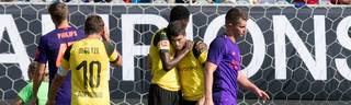 Christian Pulisic (2. von r.) erzielte zwei Tore für Borussia Dortmund