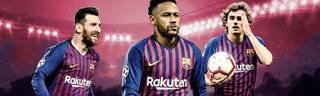 Lionel Messi, Neymar und Antoine Griezmann (v.l.) - der neue Dreizack des FC Barcelona