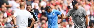 Leroy Sané hatte sich im Community Shield gegen Liverpool verletzt