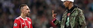 Champions League: FC Bayern ohne Jerome Boateng und Franck Ribery nach Liverpool, Jerome Boateng (rechts) und Franck Ribery verpassten den Abflug nach Liverpool