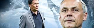Schalke-Idol Olaf Thon (r.) hält Sportvorstand Christian Heidel für den richtigen Mann am Ruder bei den Königsblauen