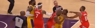 NBA: Prügelei mit Paul und Rondo bei Lakers - Rockets, Heimdebüt von LeBron