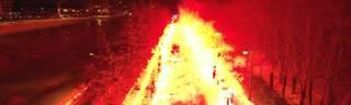 Europa League: Irre Pyro-Show von Zenit-Fans vor dem Spiel gegen Fenerbahce