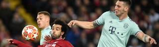 Mohamed Salah (M.) sah nur wenig Land gegen Niklas Süle und Co.
