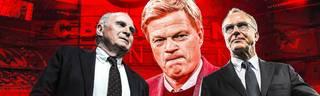Uli Hoeneß (l.) und Karl-Heinz Rummenigge (r.) stellen die Weichen für die Zukunft des FC Bayern - zentrale Personalie dabei: Oliver Kahn.