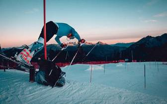 Max Burkhart beim Training am Copper Mountain