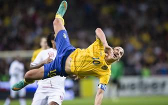 Zlatan Ibrahimovic erzielte gegen England im November 2012 ein Traumtor