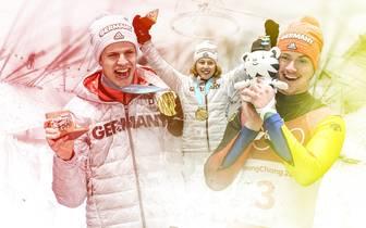 Die deutschen Medaillengewinner in Pyoengchang