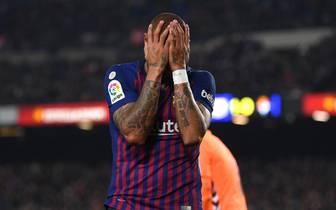La Liga: Einbruch bei Kevin-Prince Boateng vom FC Barcelona während Spiel