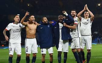 Die Kicker von Paris Saint-Germain feiern ihren Meistertitel