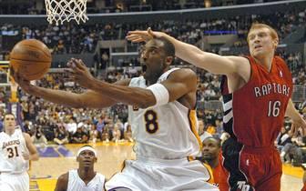 Kobe Bryant bei seinem 81-Punkte-Spiel für die Los Angeles Lakers gegen die Toronto Raptors
