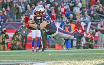 Julian Edelman kämpft mit den New England Patriots um die beste Ausgangslage für die Playoffs