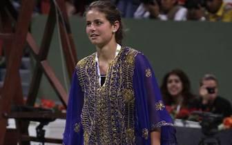 Sportlich wird sie im März 2007 beim WTA-Turnier in Doha zum ersten Mal auffällig. Görges erhält für das Turnier eine Wildcard und spielt sich bis ins Achtelfinale, wo sie an der Russin Swetlana Kusnezowa scheitert