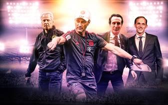 Lucien Favre, Niko Kovac, Unai Emery und Thomas Tuchel sind allesamt neu bei ihren Vereinen