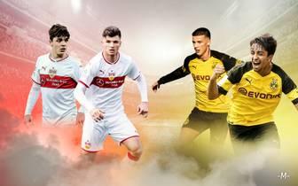 U19-Talente von Borussia Dortmund und des VfB Stuttgart
