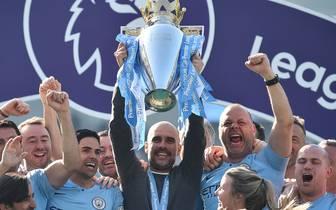 Streich Nr. 2: Guardiola und ManCity feiern ihren zweiten Premier League-Titel in Folge