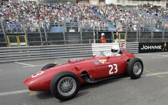 Britain's Tony Smith drives a Ferrari 24
