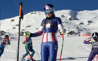 Lindsey Vonn als Captain America